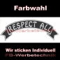 Preview: RESPECT ALL Top Rocker 29cm Patches Aufnäher S03