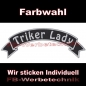 Preview: Triker Lady Top Rocker 29cm Patches Aufnäher S03