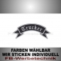 Preview: Trucker Patch Flagge OBEN 12cm Aufnäher S02