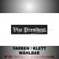 Preview: Vize President Patch Aufnäher Biker MC 10x2,5 S2