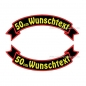 Preview: Wunschtext Flaggen SET 50 cm Patches S03