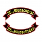 Preview: Wunschtext Flaggen SET 35 cm Patches S03