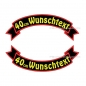 Preview: Wunschtext Flaggen SET 40 cm Patches S03
