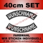 Preview: Wunschtext Bögen SET 40 cm Patches S03