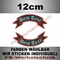 Mobile Preview: Wunschtext Schleifen 2er SET 12x5cm Patches S02