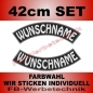 Preview: Wunschtext Bögen SET 42 cm Patches S03
