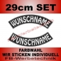 Mobile Preview: Wunschtext Bögen SET 29 cm Patches S03