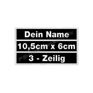 Namensschild Wunschtext 10,5 x 6cm Patch 3in1 S01
