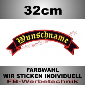 TOP ROCKER 32cm Flagge Patch S02