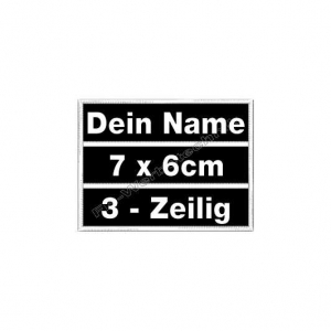 Namensschilder 7x6cm Patches Aufnäher 3in1 S01
