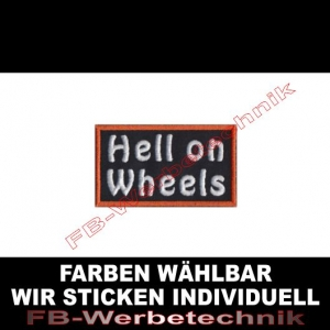 HELL ON WHEELS Aufnäher Patches 7cm x 4cm