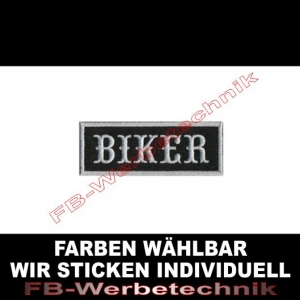 BIKER Aufnäher Patches 8x3cm Patch