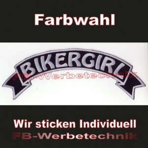 BIKERGIRL Top Rocker 29cm Patches Aufnäher S03