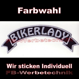 BIKERLADY Top Rocker 29cm Patches Aufnäher S03