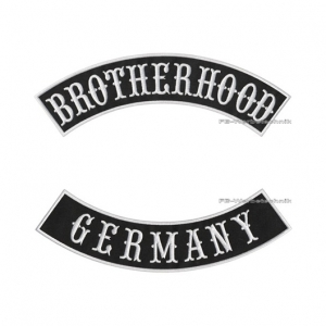 BROTHERHOOD GERMANY Bogen Patch SET 29cm S04
