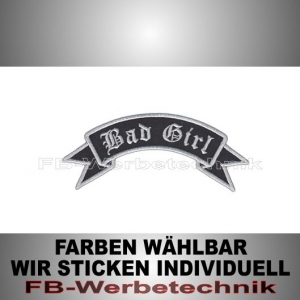 Bad Girl Patch Flagge OBEN 12cm Aufnäher S02