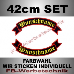 Wunschtext Flaggen SET 42 cm Patches S02