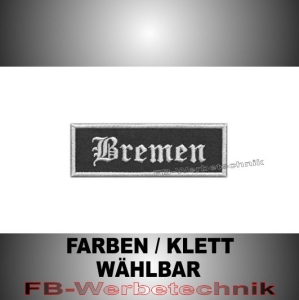 Bremen Patches Aufnäher Biker Patch 9x3 S2