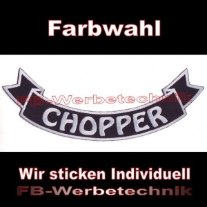CHOPPER Bottom Rocker 29cm Aufnäher Patches S03