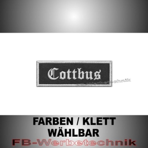 Cottbus Patches Aufnäher Biker MC 9x3 S2