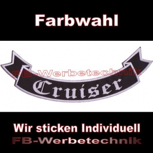 Cruiser Bottom Rocker 29cm Aufnäher Patches S02