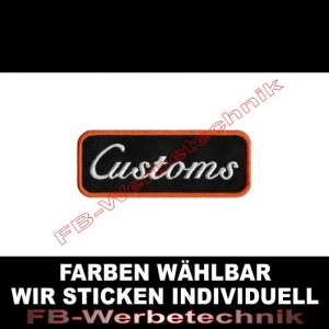 Customs Patch Aufnäher 9cm x 3,5cm