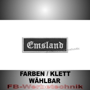 Emsland Patches Aufnäher Biker Patch 9x3 S2