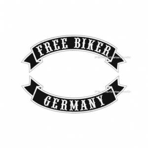FREE BIKER GERMANY Patch SET 29cm Aufnäher Schwingen S04