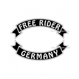 FREE RIDER GERMANY Patch SET 29cm Flaggen Patches S03