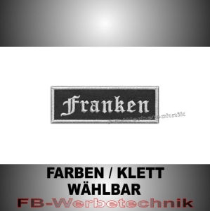 Franken Patches Aufnäher Biker Patch 9x3 S2