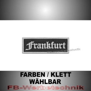 Frankfurt Patches Aufnäher Biker Patch 9x3 S2