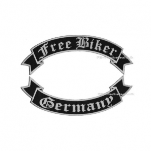Free Biker Germany Aufnäher SET 29cm Flaggen Patch S02