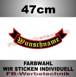 Bottom Rocker 47 cm Flagge Patch S02