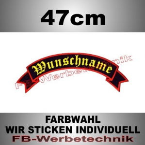 TOP ROCKER 47cm Flagge Patch S02