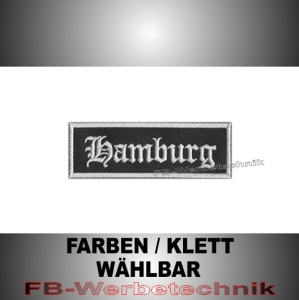 Hamburg Patches Aufnäher Biker Patch 9x3 S2