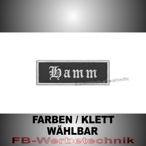 Hamm Patches Aufnäher Biker Patch 9x3 S2