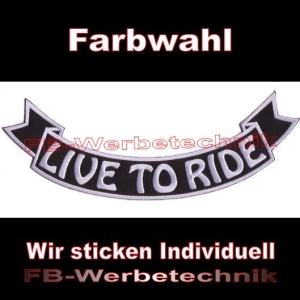 LIVE TO RIDE Bottom Rocker 29cm Patches S03