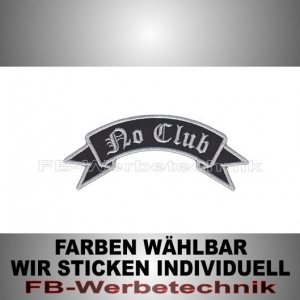 No Club Patch Flagge OBEN 12cm Aufnäher S02