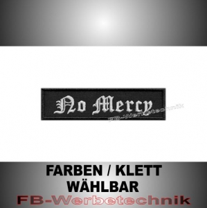 No Mercy Patch Aufnäher Biker MC 10x2,5 S2