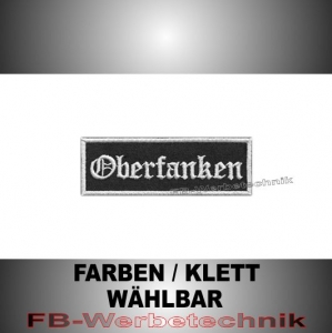 Oberfranken Aufnäher Biker Patches Patch 9x3 S2