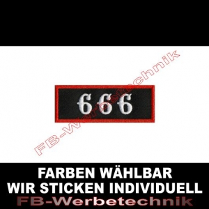 666 Patch Aufnäher Patches 8x3cm