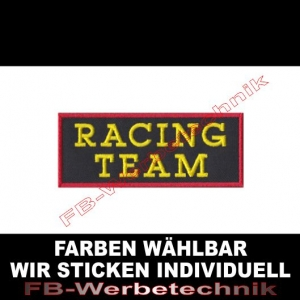 RACING TEAM Aufnäher Patches 10cm x 4cm