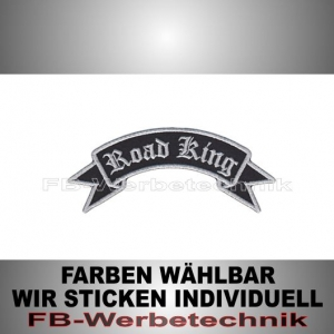 Road King Patch Flagge OBEN 12cm Aufnäher S02