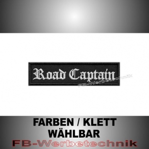 Road Captain Patch Aufnäher Biker MC 10x2,5 S2