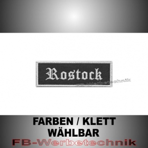 Rostock Patches Aufnäher Biker Patch 9x3 S2