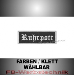 Ruhrpott Patches Aufnäher Biker Patch 9x3 S2