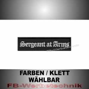 Sergeant at Arms Patch Aufnäher Biker MC 10x2,5 S2