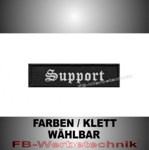 Support Patch Aufnäher Biker MC 10x2,5 S2