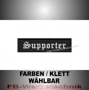 Supporter Patch Aufnäher Biker MC 10x2,5 S2