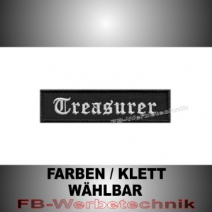 Treasurer Patch Aufnäher Biker MC 10x2,5 S2
